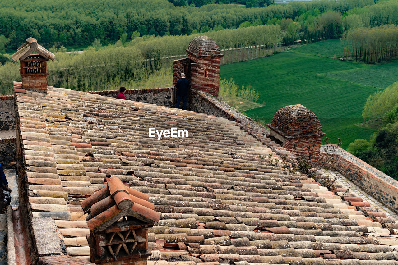 High angle view of traditional building