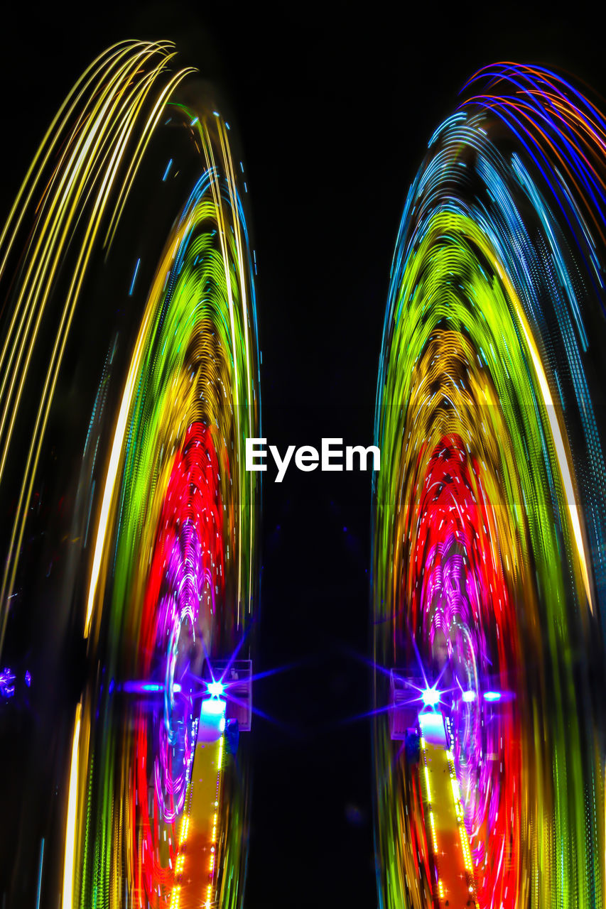 multi colored, night, illuminated, motion, long exposure, glowing, pattern, studio shot, light - natural phenomenon, no people, abstract, blurred motion, light painting, glass - material, indoors, reflection, nature, black background, lighting equipment, light, digital composite