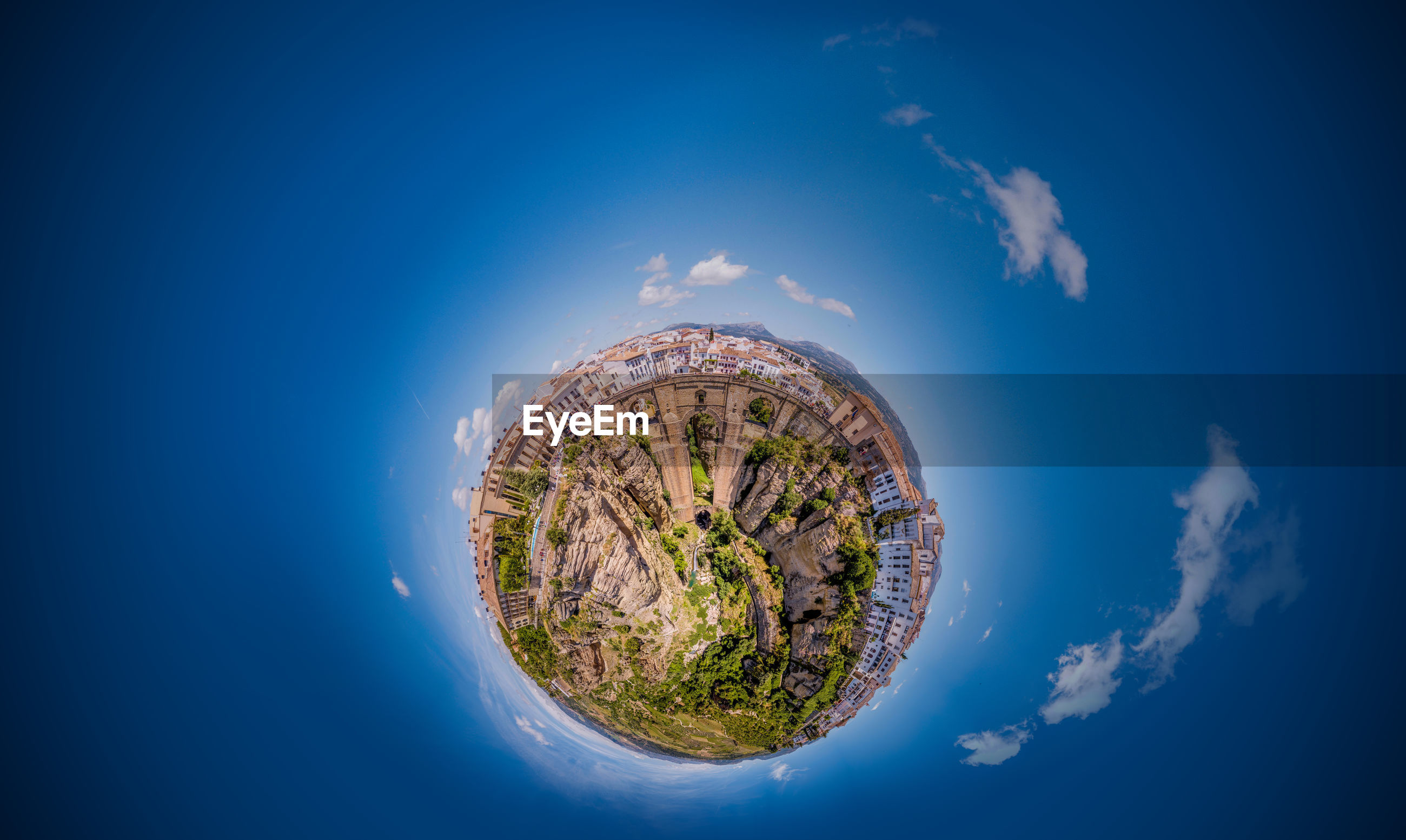Small planet of ronda in spain andalucia