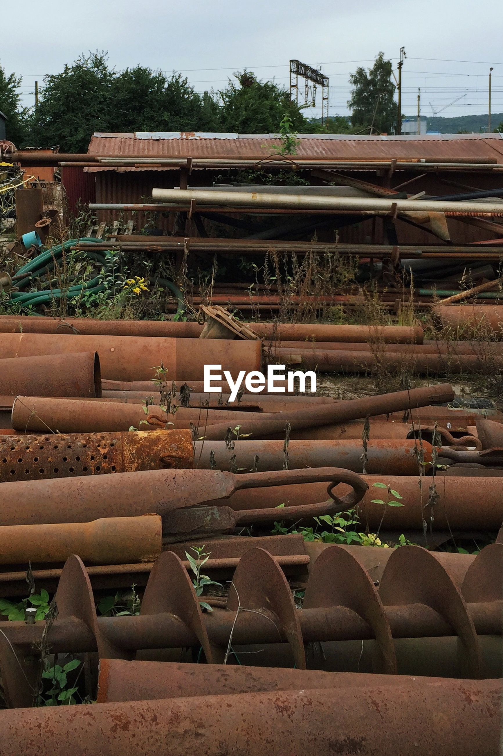 Rusty metal at shunting yard