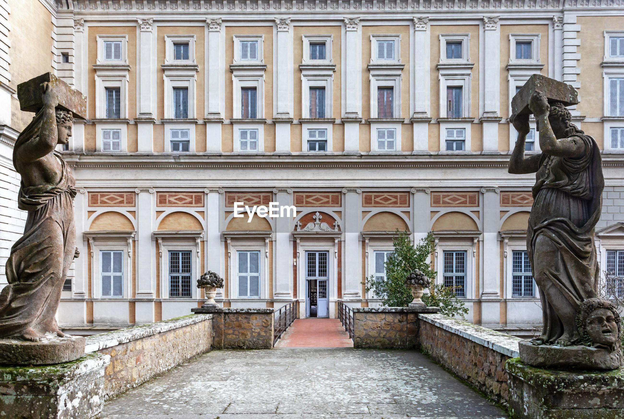 The villa farnese is located in the town of caprarola near viterbo, northern lazio, italy.