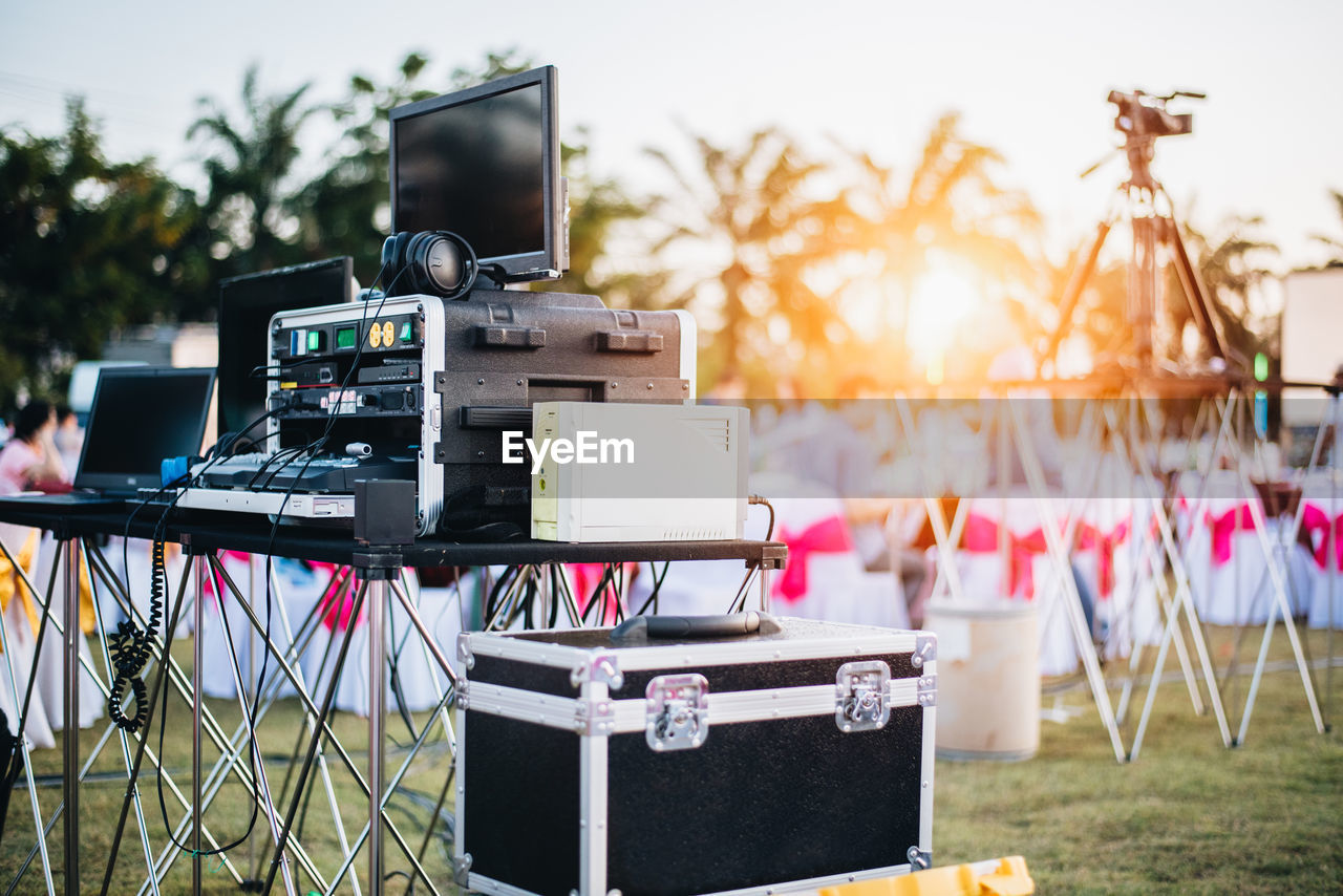 Close-Up Of Recording Equipment And Technology At Event