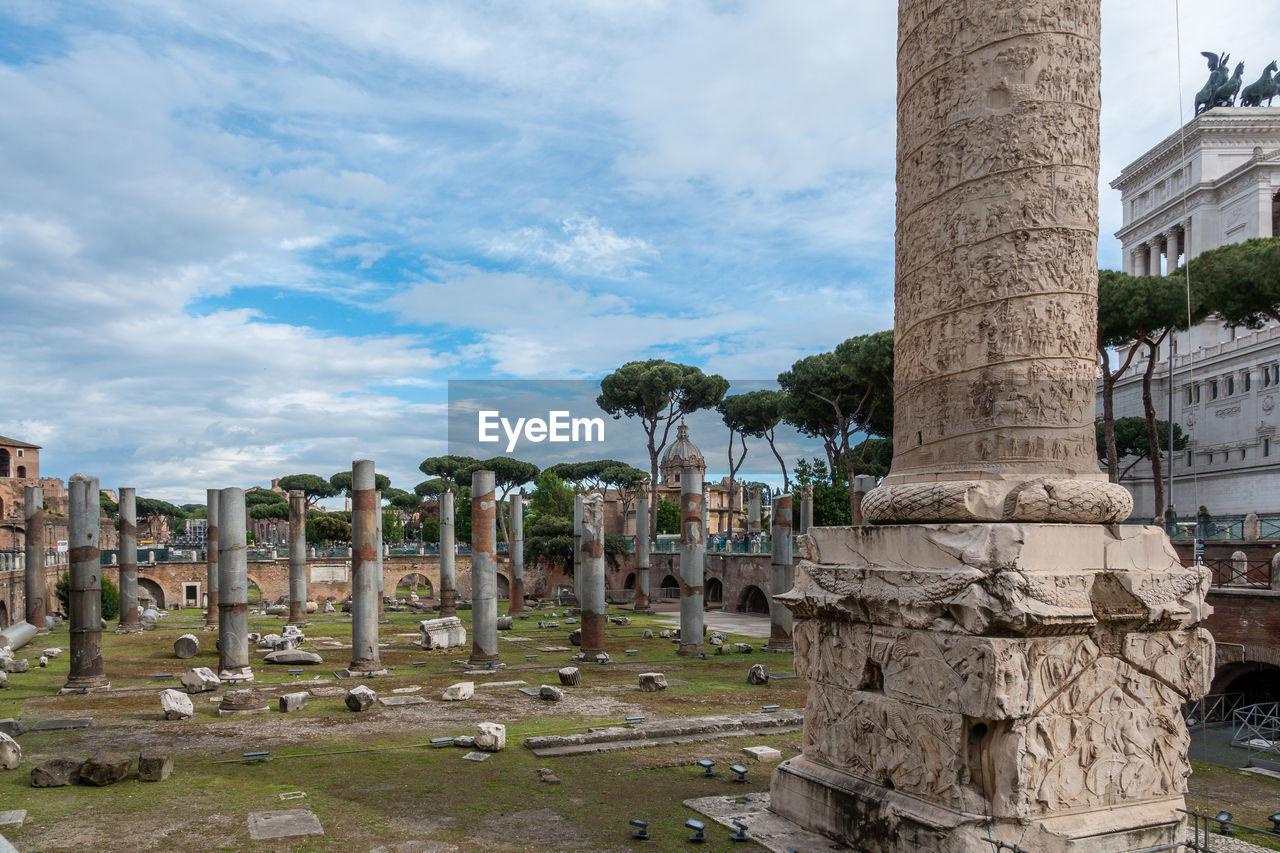 history, the past, architecture, architectural column, built structure, sky, cloud - sky, ancient, old ruin, nature, day, travel destinations, travel, art and craft, religion, tourism, ancient civilization, no people, belief, old, stone material, archaeology, outdoors, ruined, deterioration