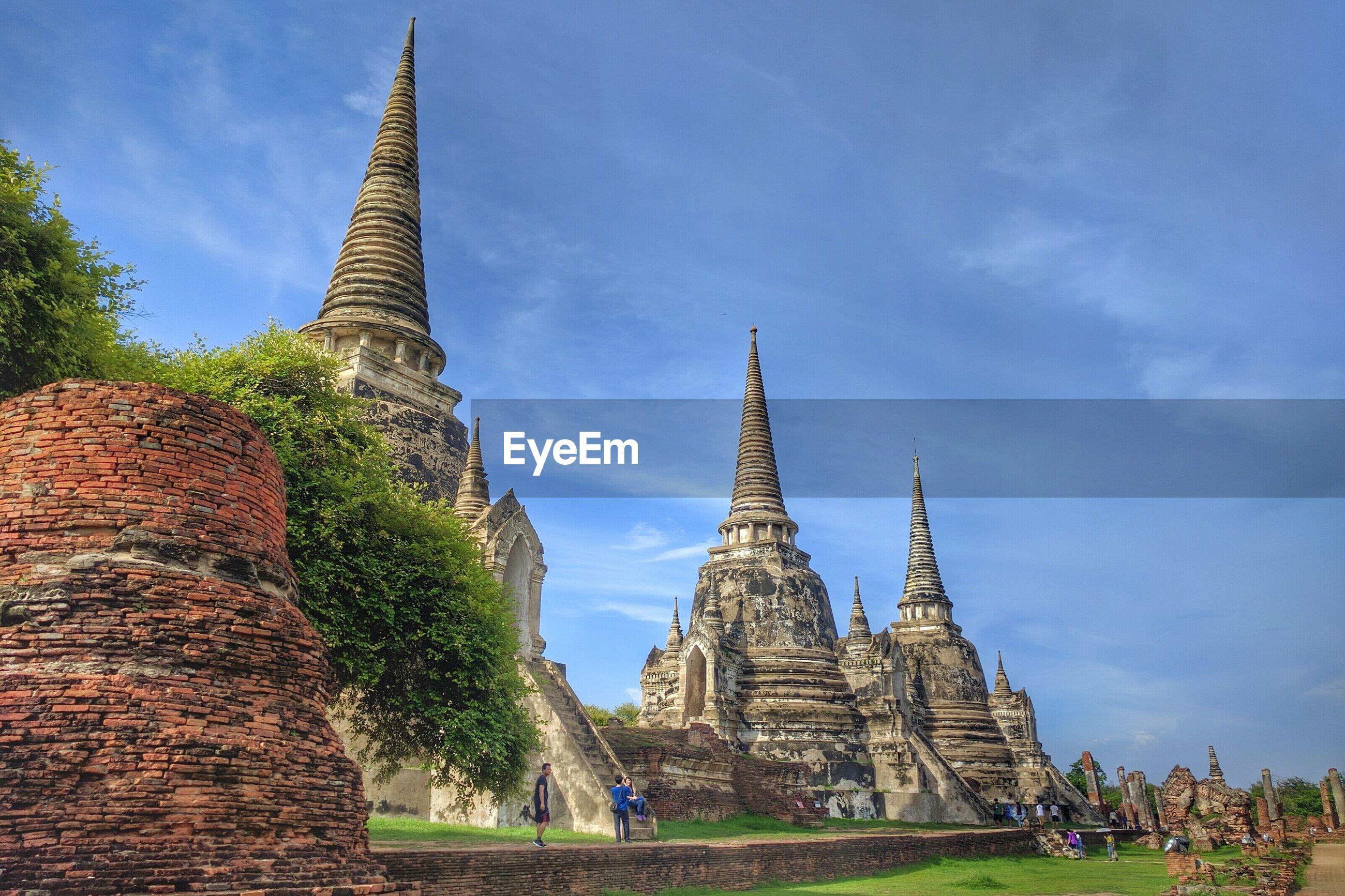 Wat phra sri sanphet temple at ayutthaya historical park against sky