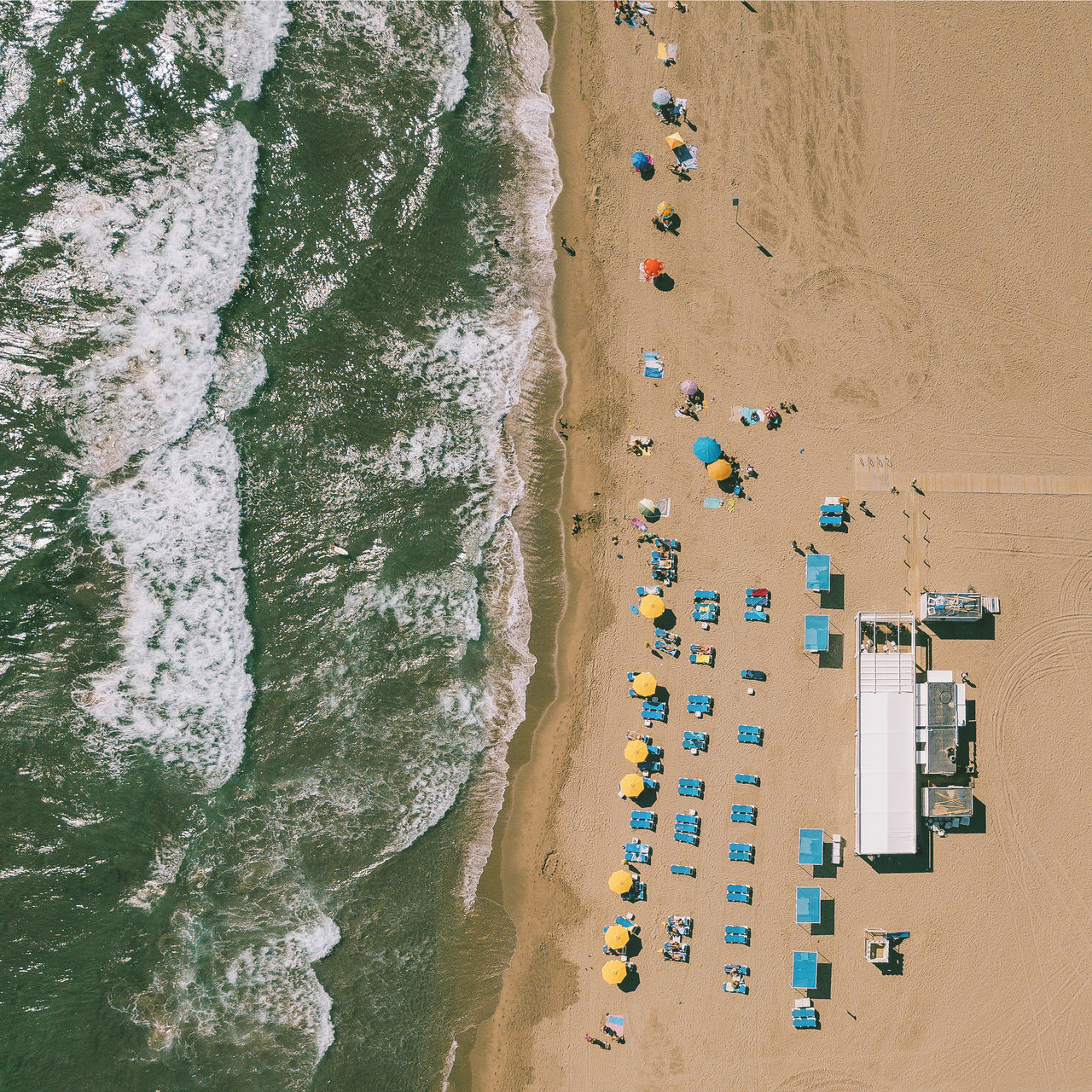 Aerial View Of Beach During Sunny Day