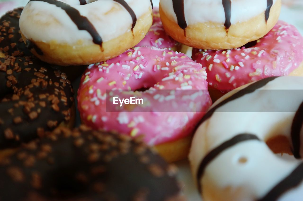 Close-Up Of Donut Variety