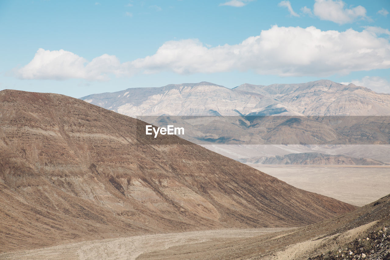 Scenic View Of Death Valley Mountains Against Sky