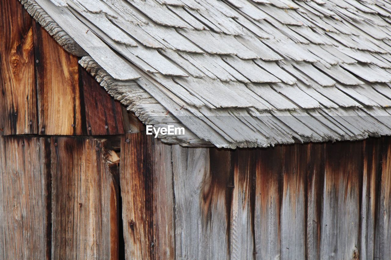 Close-up of wooden building
