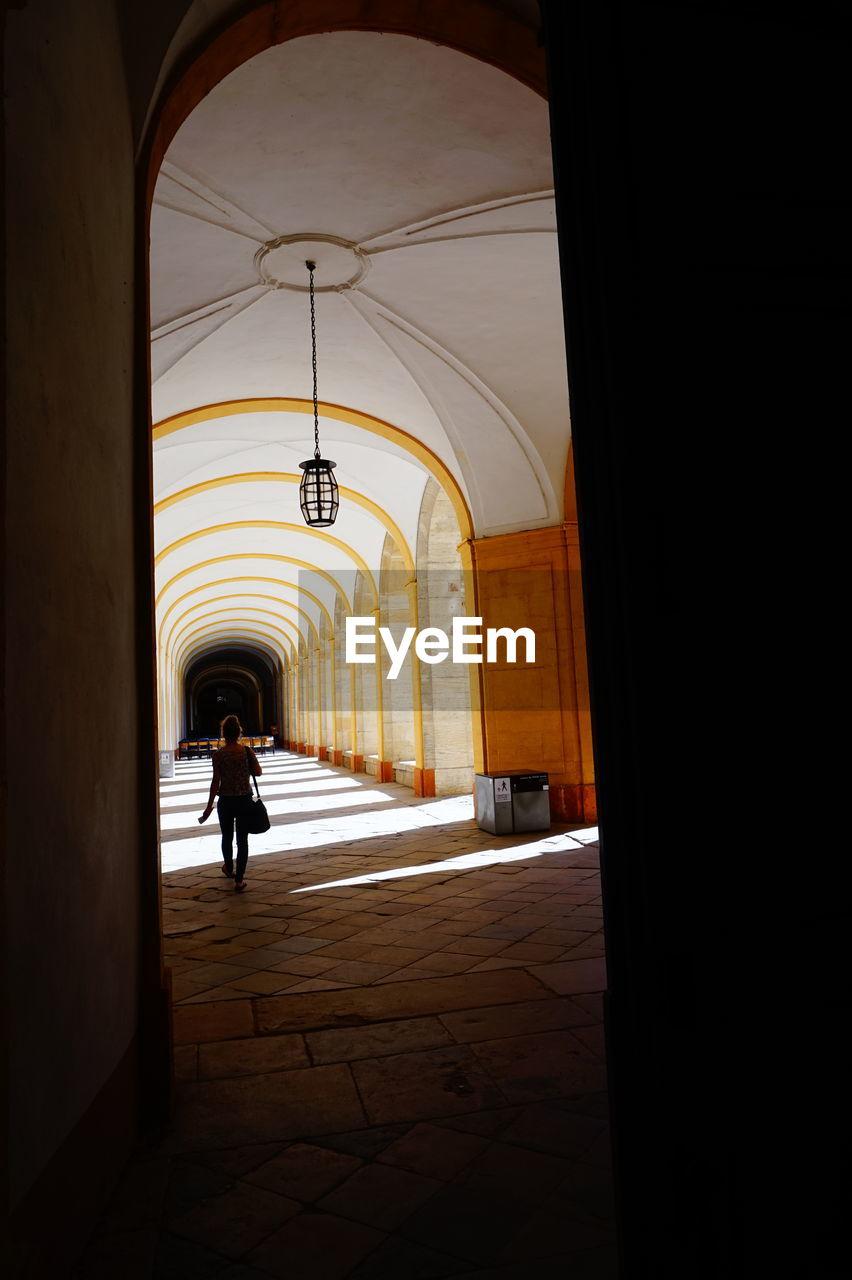 In front of corridor