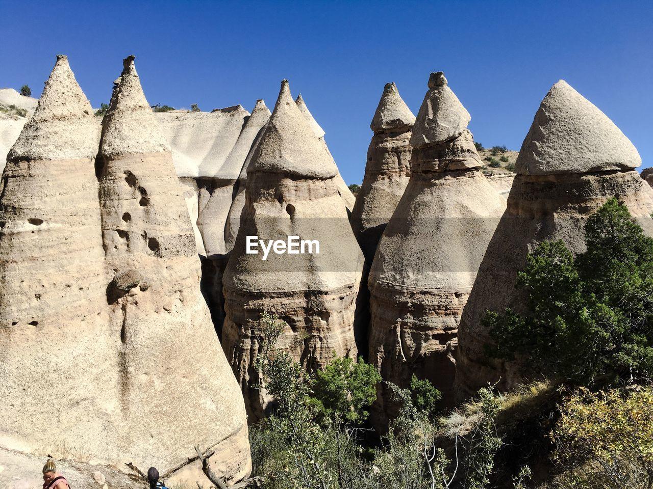 Rock Formations At Kasha-Katuwe Tent Rocks National Monument Against Sky