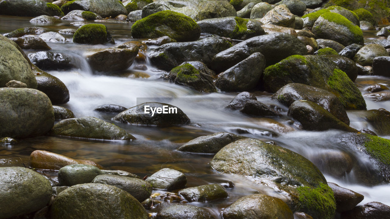 water, rock, solid, motion, long exposure, rock - object, blurred motion, no people, flowing water, beauty in nature, scenics - nature, day, nature, flowing, land, stone, river, outdoors, stream - flowing water, pebble, shallow, falling water