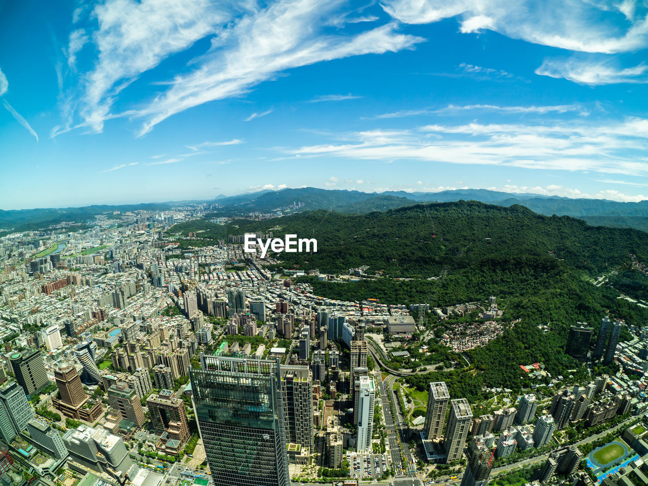 building exterior, architecture, built structure, cityscape, city, sky, cloud - sky, building, residential district, high angle view, nature, day, crowded, aerial view, plant, outdoors, tree, landscape, office building exterior, skyscraper, townscape