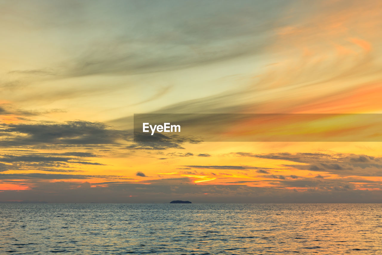 sky, sunset, cloud - sky, scenics - nature, beauty in nature, water, tranquility, sea, orange color, horizon over water, tranquil scene, horizon, waterfront, nature, no people, idyllic, outdoors, dramatic sky, non-urban scene