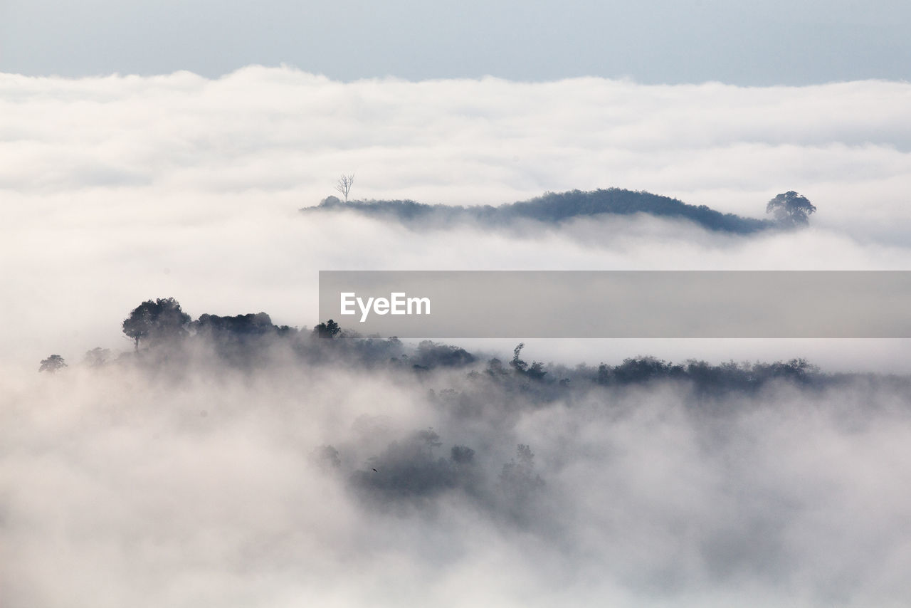 Scenic view of cloudscape and mountain