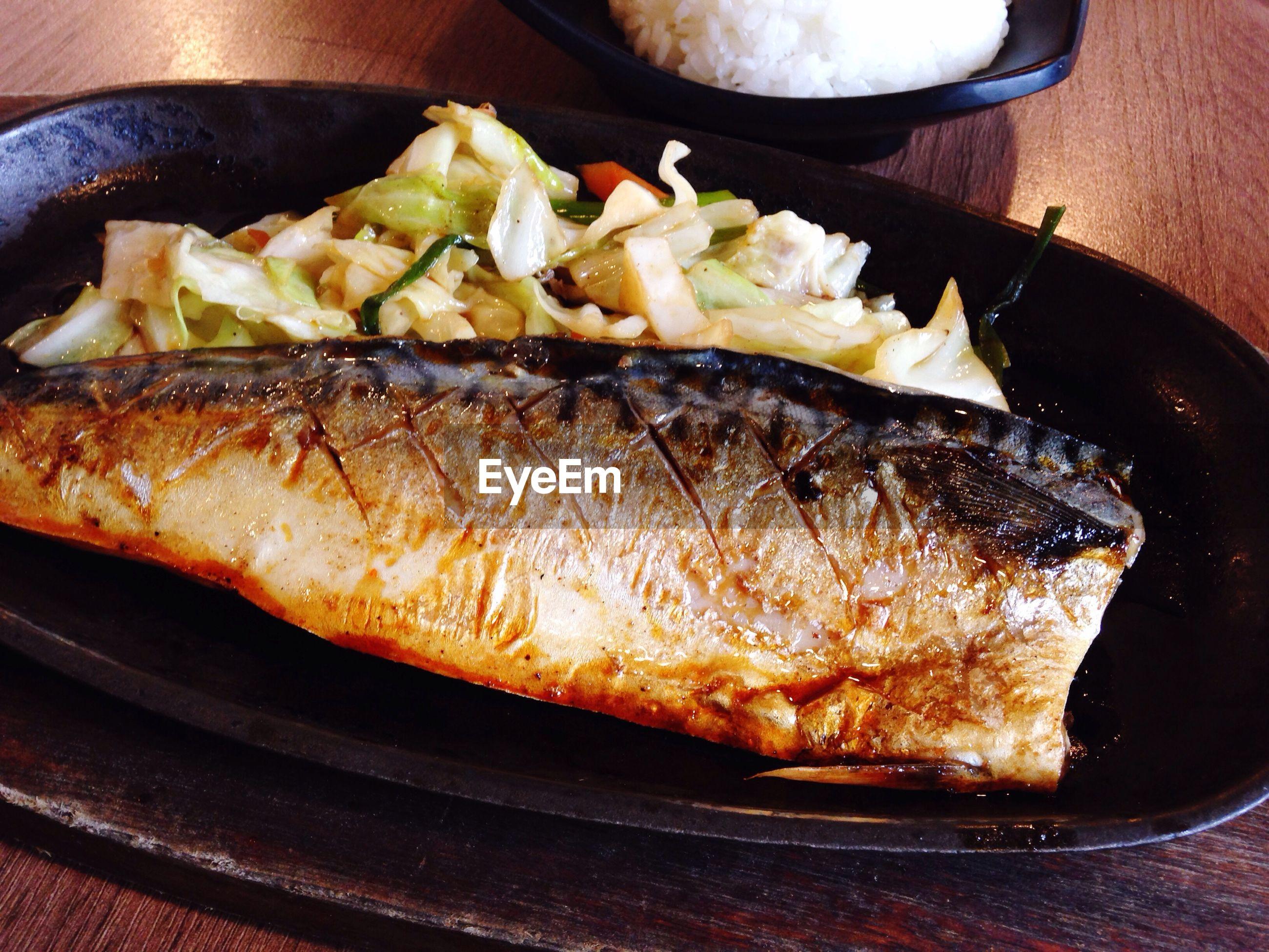Detail shot of seafood