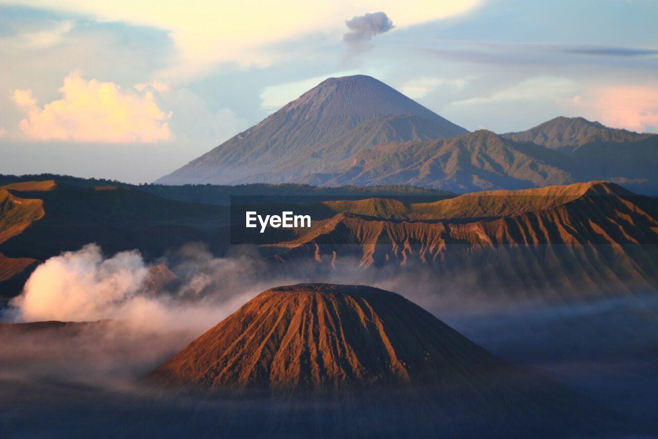 Scenic View Of Volcanic Mountain Peak