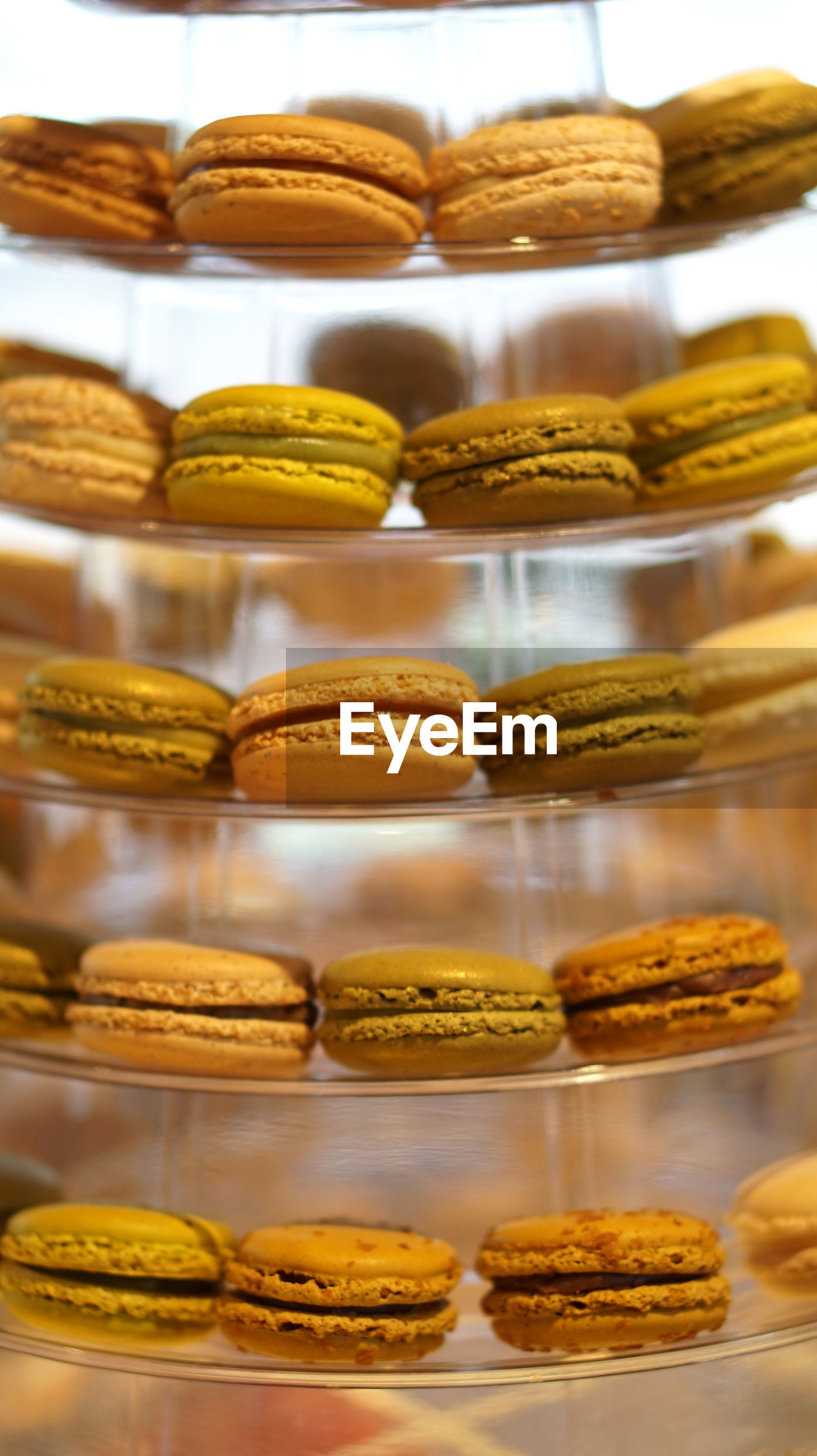 Macarons tier for afternoon tea dessert party