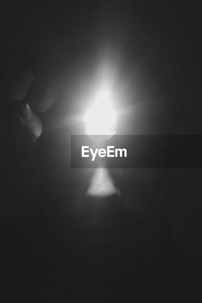 illuminated, dark, lighting equipment, electricity, shadow, indoors, night, real people, close-up