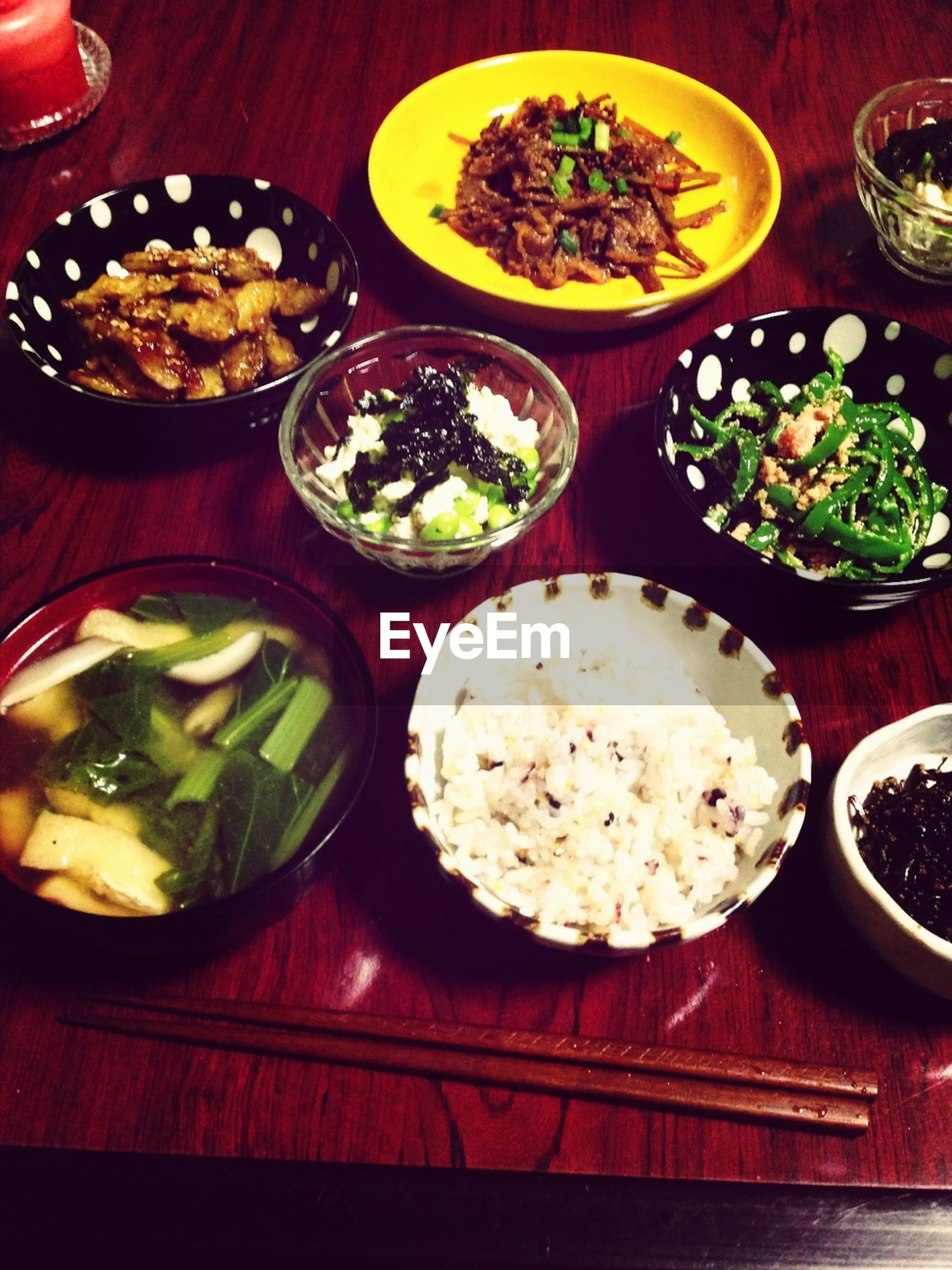 food and drink, food, freshness, indoors, ready-to-eat, plate, meal, table, healthy eating, still life, serving size, bowl, high angle view, meat, salad, vegetable, rice - food staple, lunch, served, indulgence