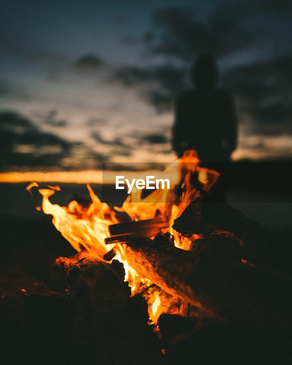 Bonfire On Landscape