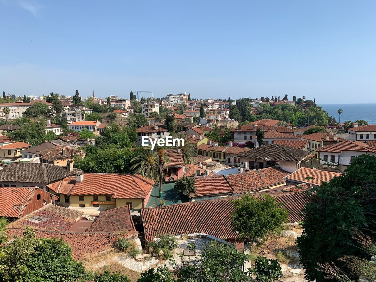 architecture, building exterior, built structure, building, residential district, city, roof, high angle view, tree, house, plant, nature, day, town, community, no people, sky, outdoors, cityscape, townscape, roof tile