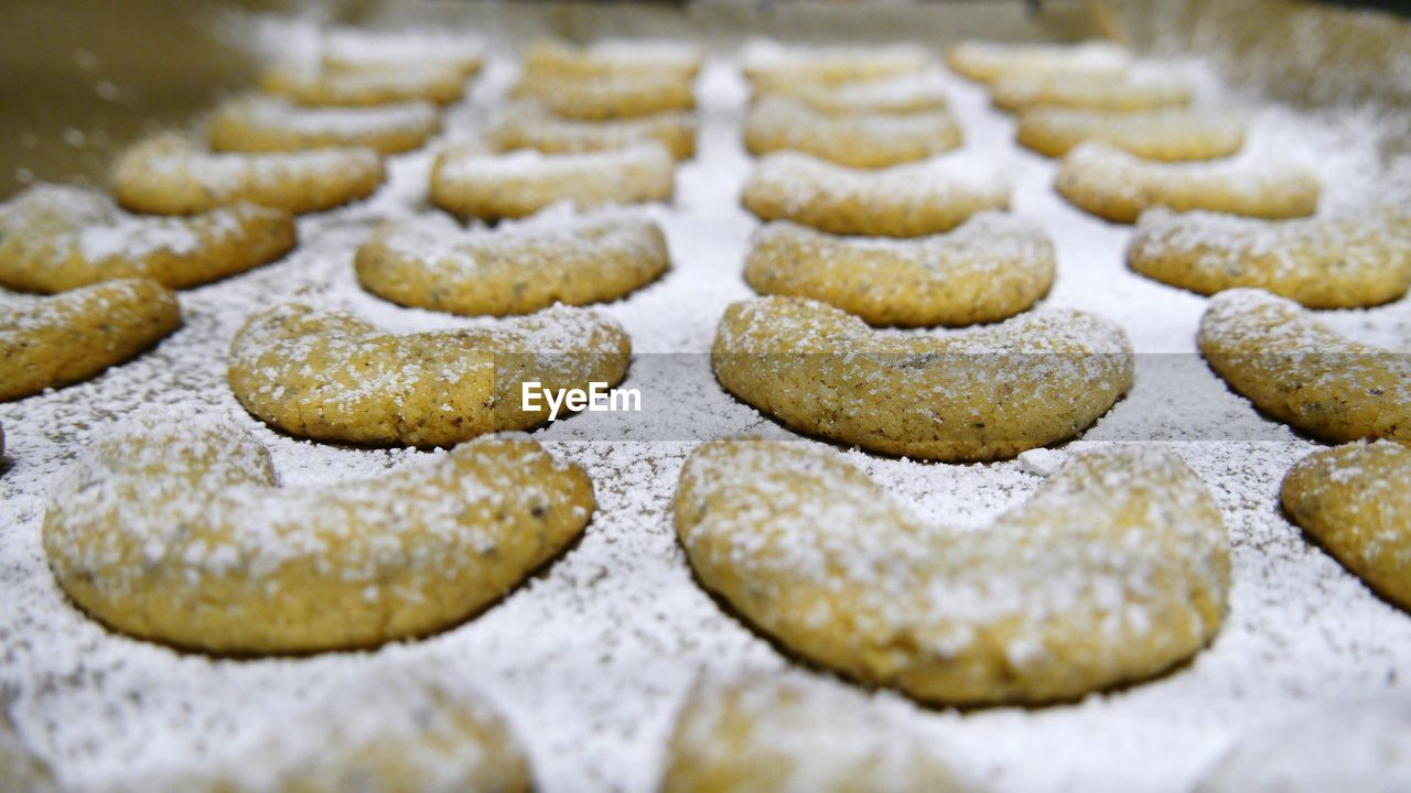 Close-Up Of Baked Cookies