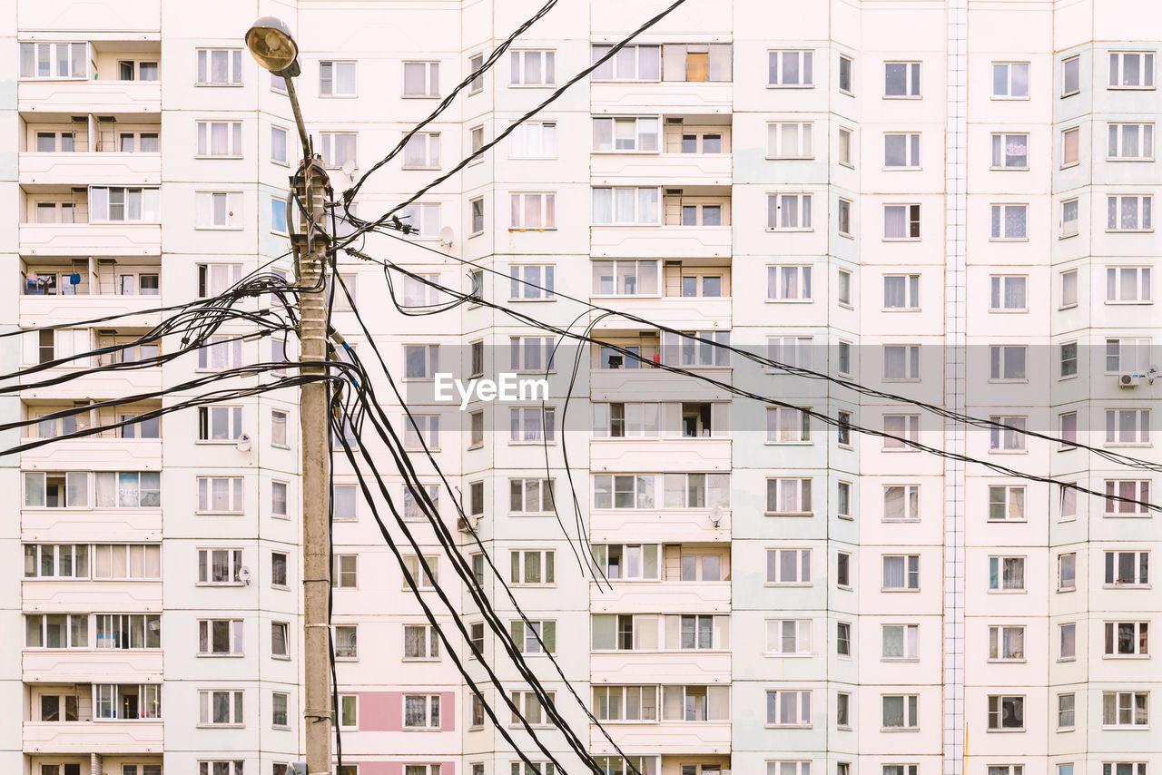 Power Line Against Buildings