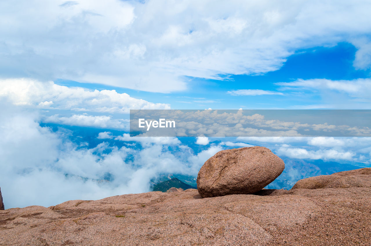cloud - sky, sky, rock, rock - object, tranquil scene, solid, beauty in nature, tranquility, scenics - nature, day, nature, no people, non-urban scene, land, remote, idyllic, outdoors, rock formation, environment, landscape, arid climate