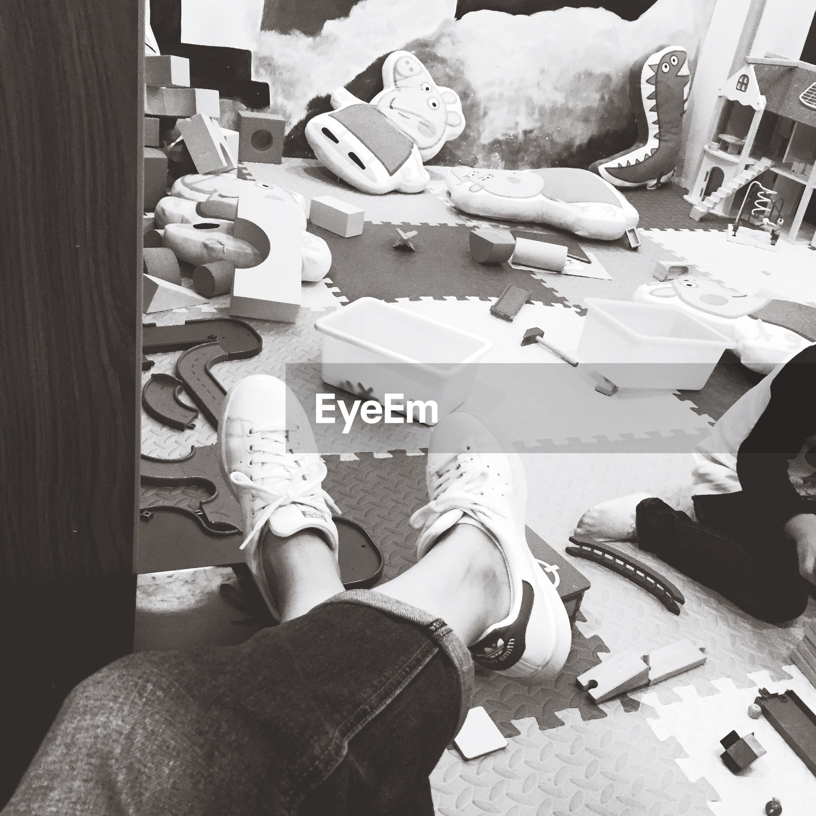 low section, person, personal perspective, shoe, high angle view