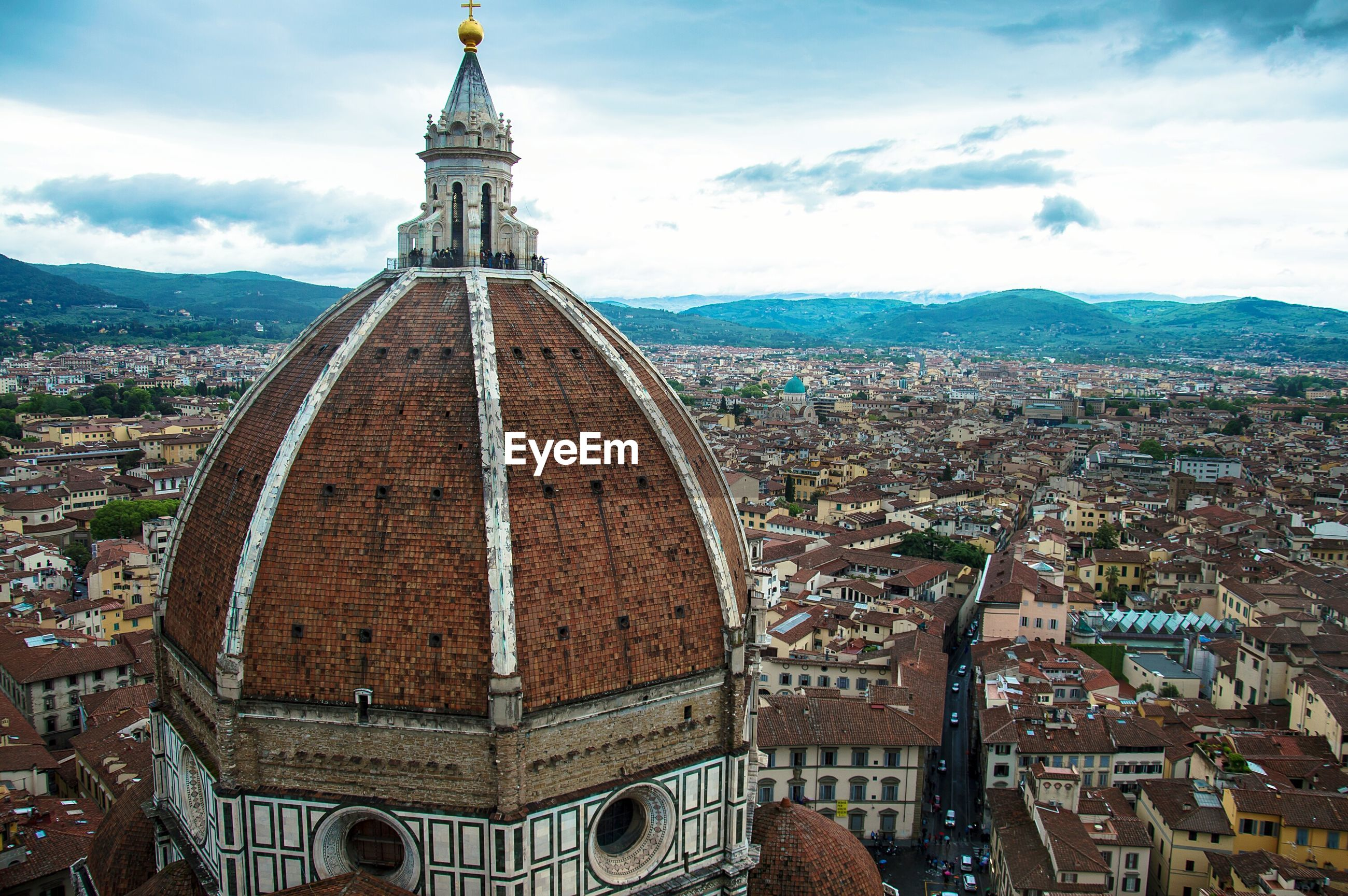 Florence cathedral in city against sky