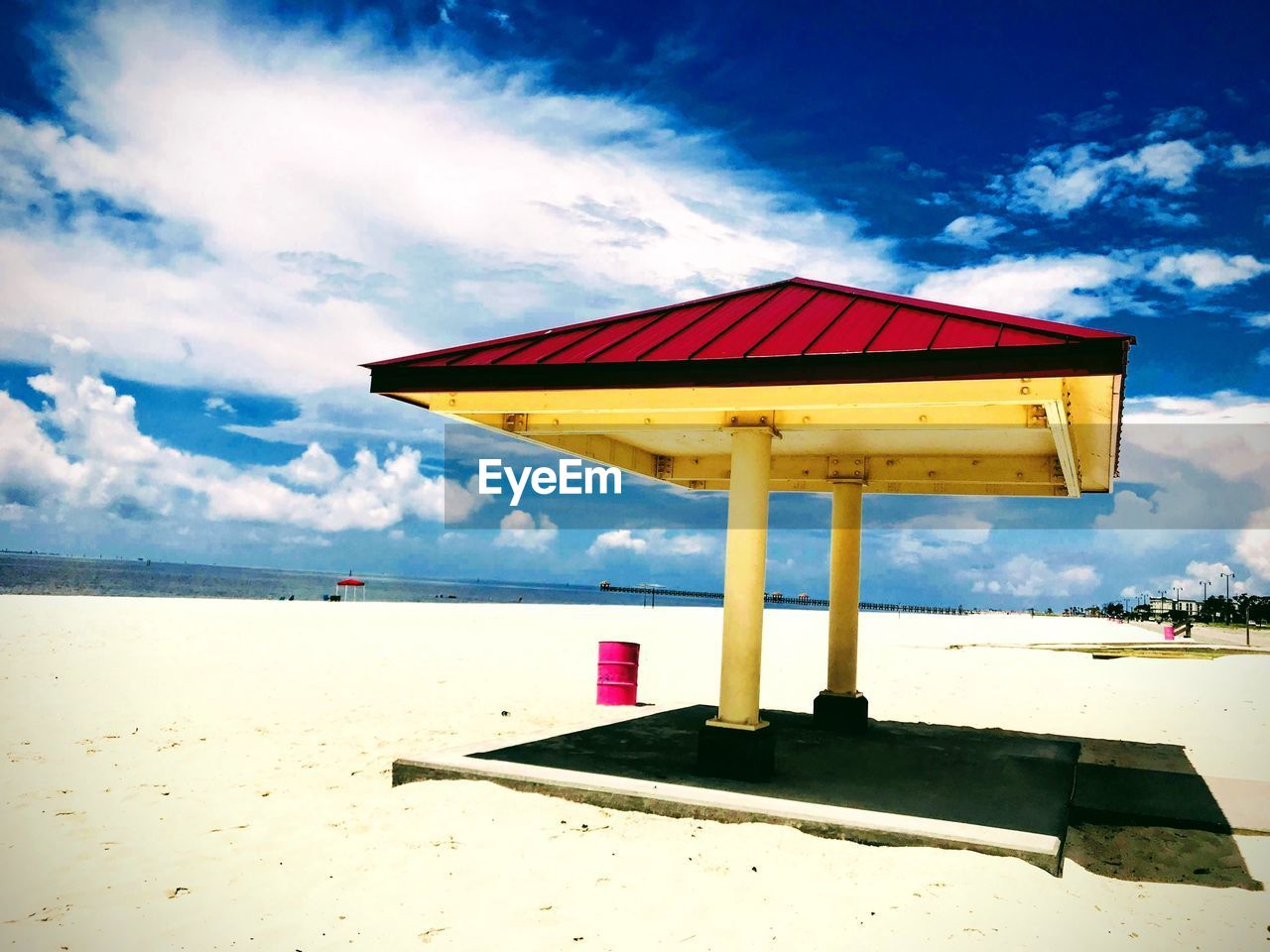 sky, cloud - sky, beach, land, water, horizon, horizon over water, nature, sea, sand, day, sunlight, tranquil scene, no people, tranquility, built structure, scenics - nature, beauty in nature, outdoors
