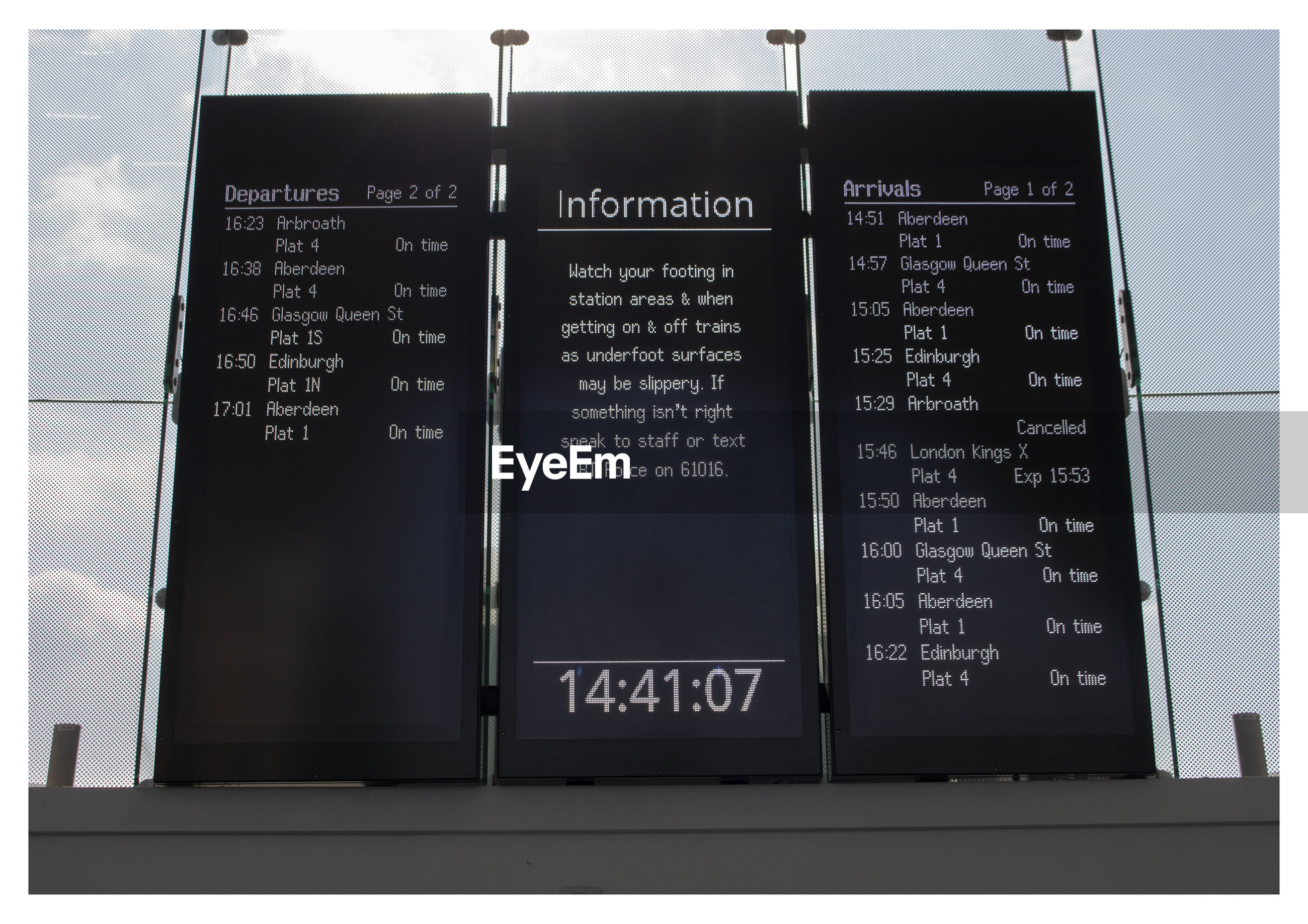 HIGH ANGLE VIEW OF TEXT ON AIRPORT