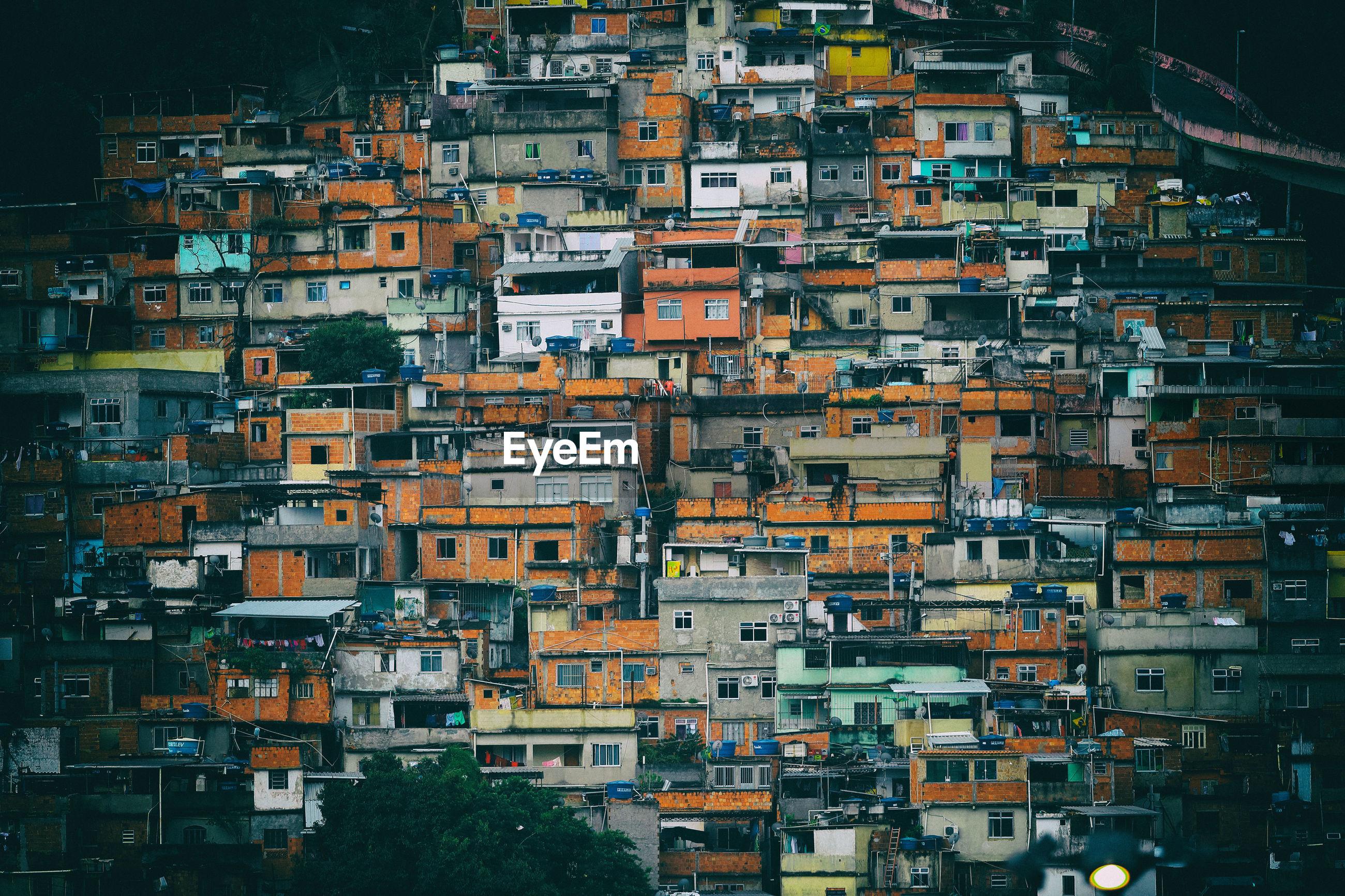 Part of the favela mangueira, seen from the maracana stadium