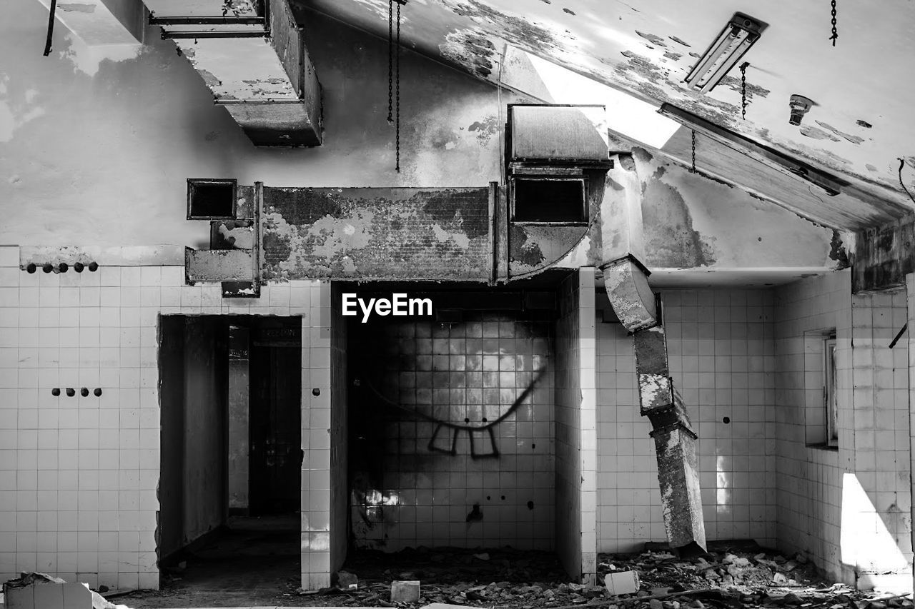 built structure, architecture, abandoned, destruction, building exterior, day, no people, outdoors