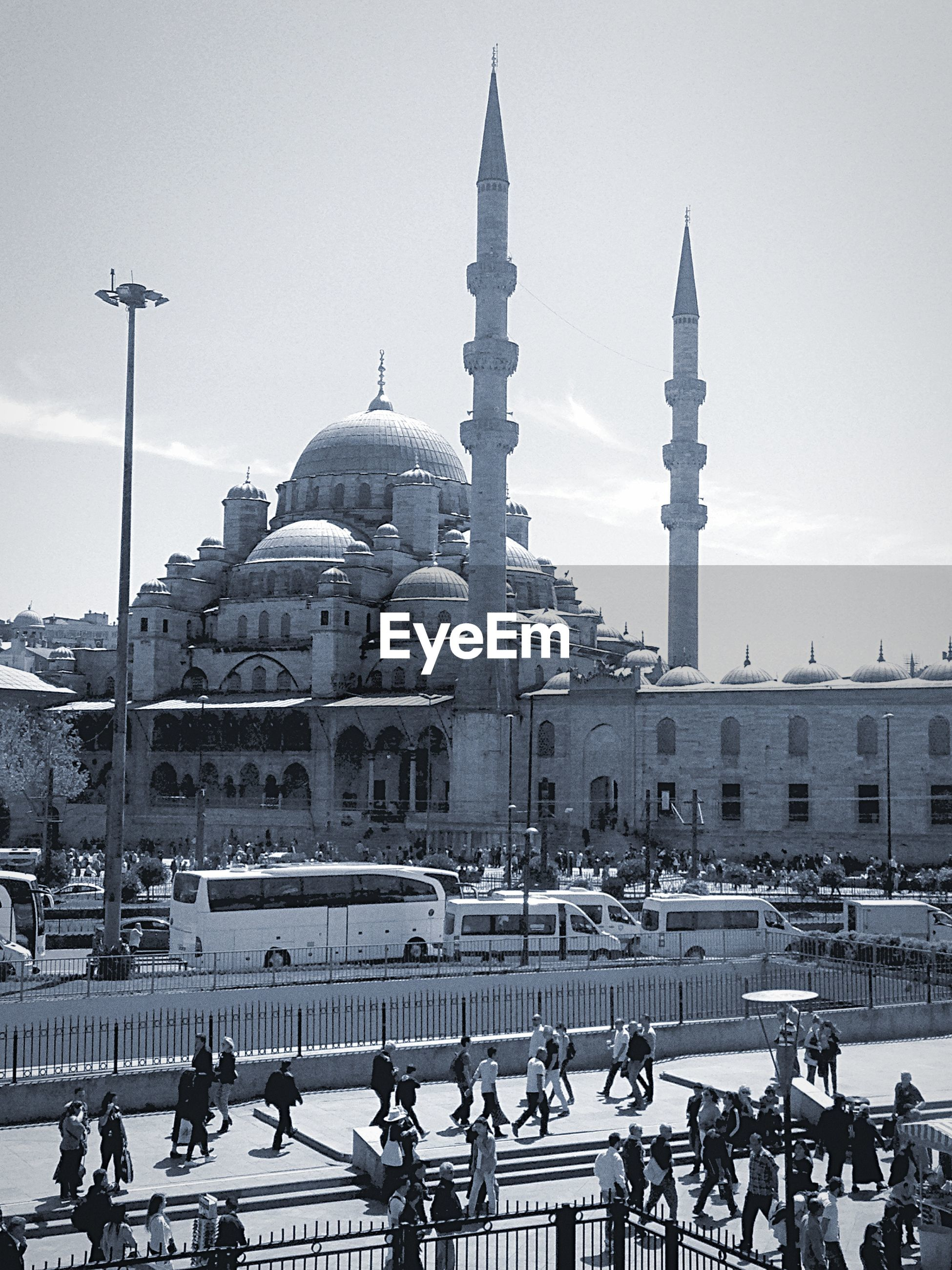 Blue mosque against sky in city
