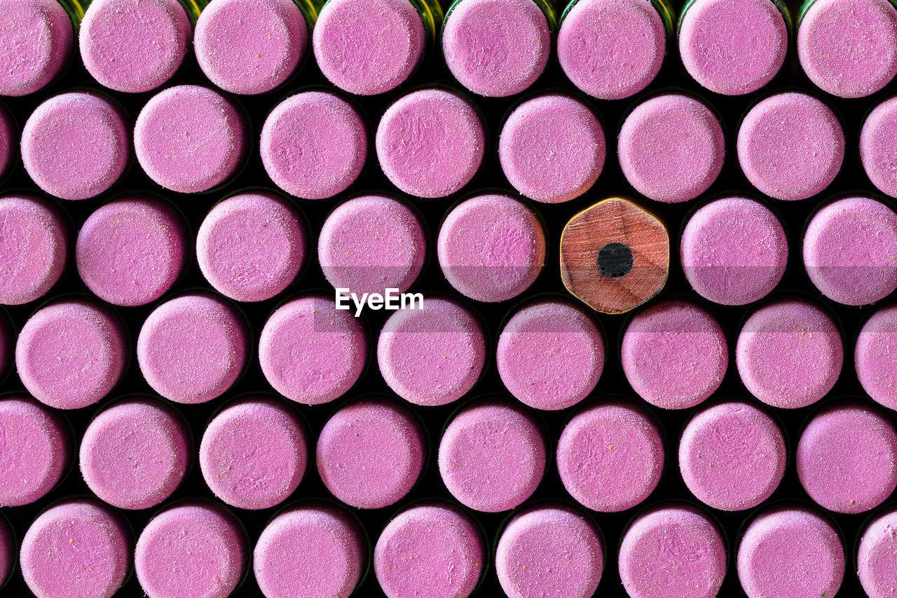 Full Frame Shot Of Pink Pencils