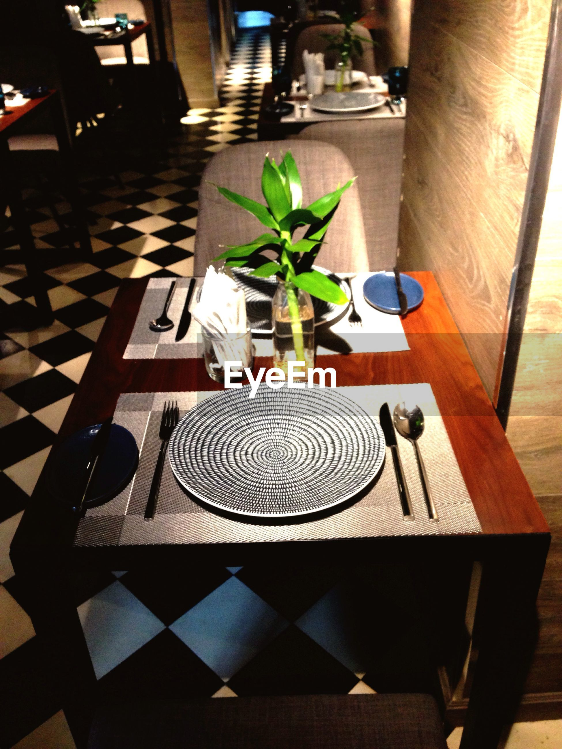 Close-up of dining table in restaurant