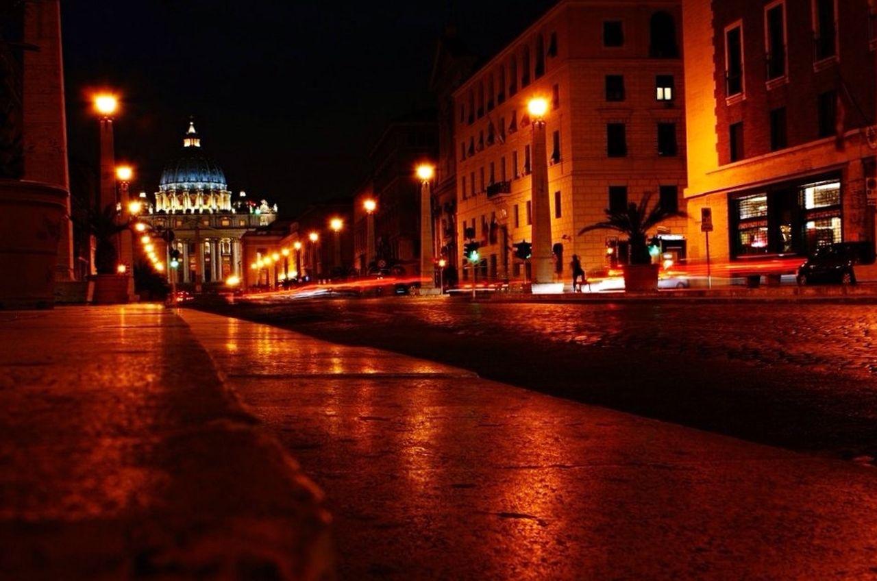 VIEW OF ILLUMINATED STREET LIGHT