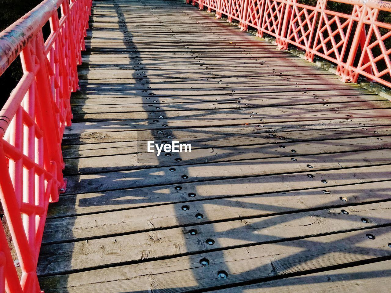 High Angle View Of Empty Footbridge