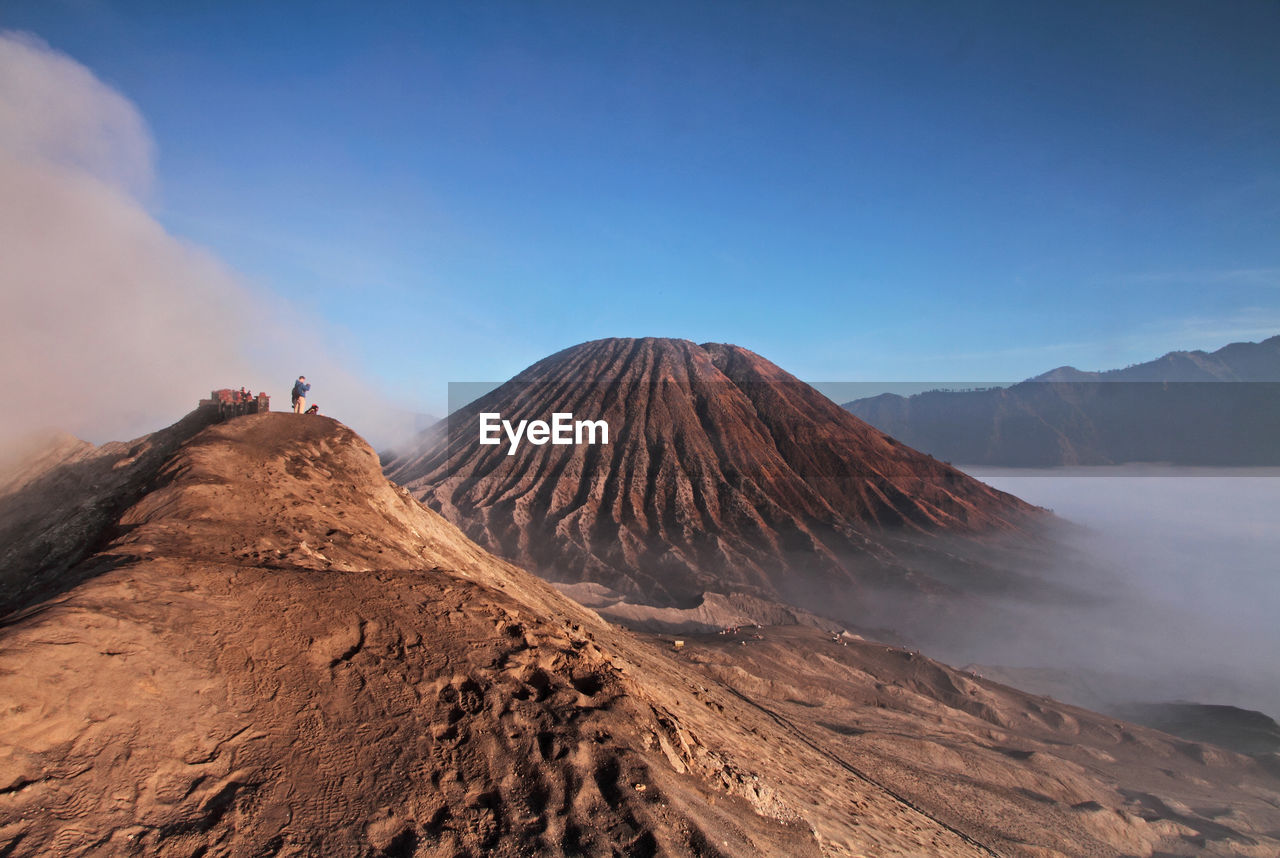 Mt Bromo Against Sky