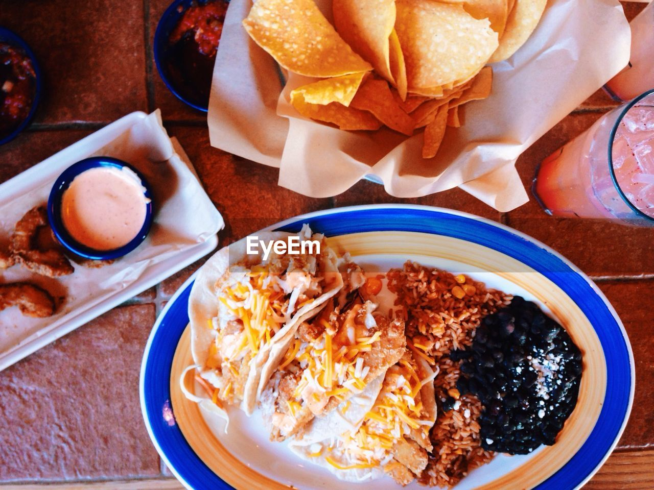 Close up of mexican food