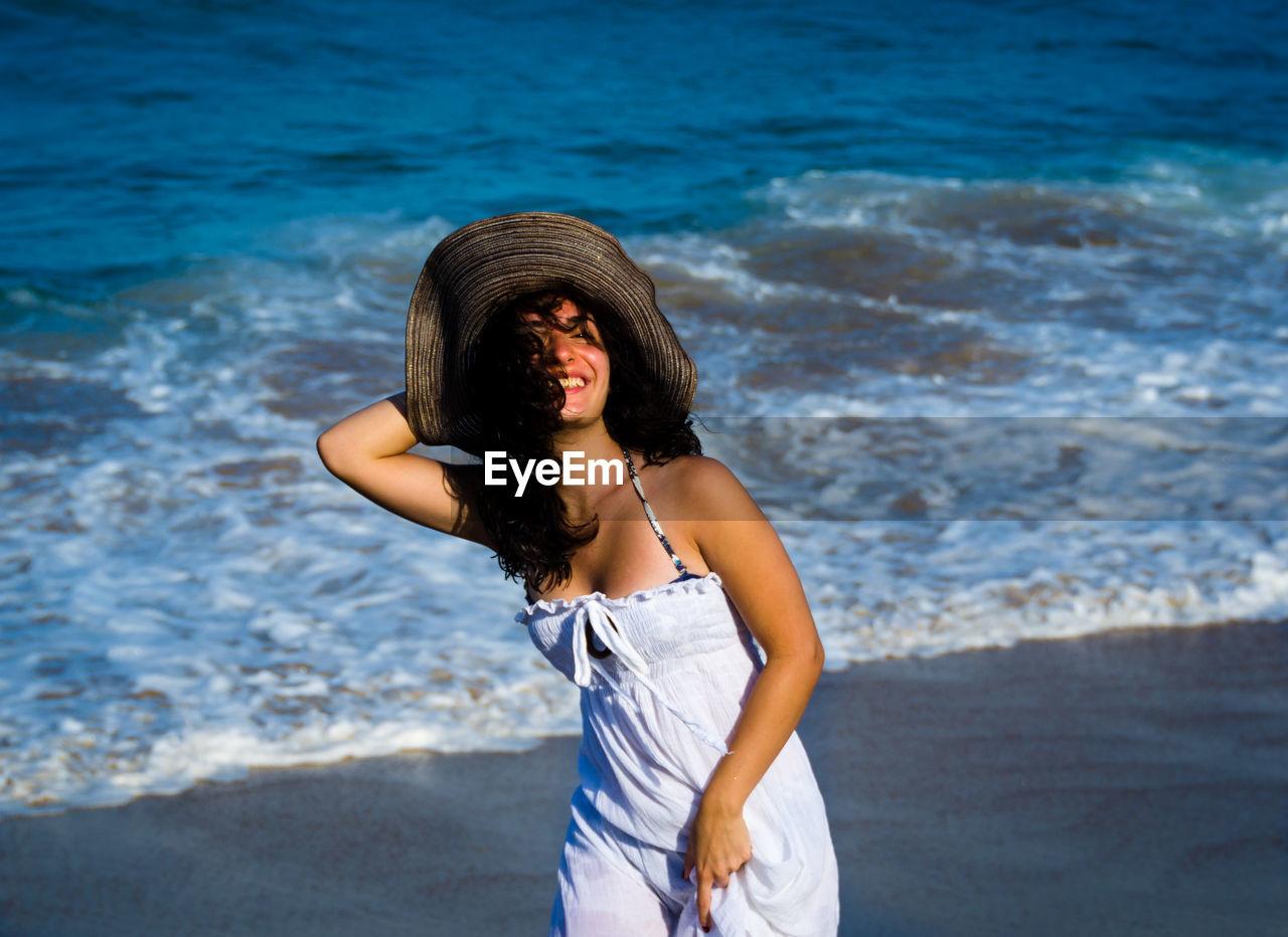 Young Woman At Seashore