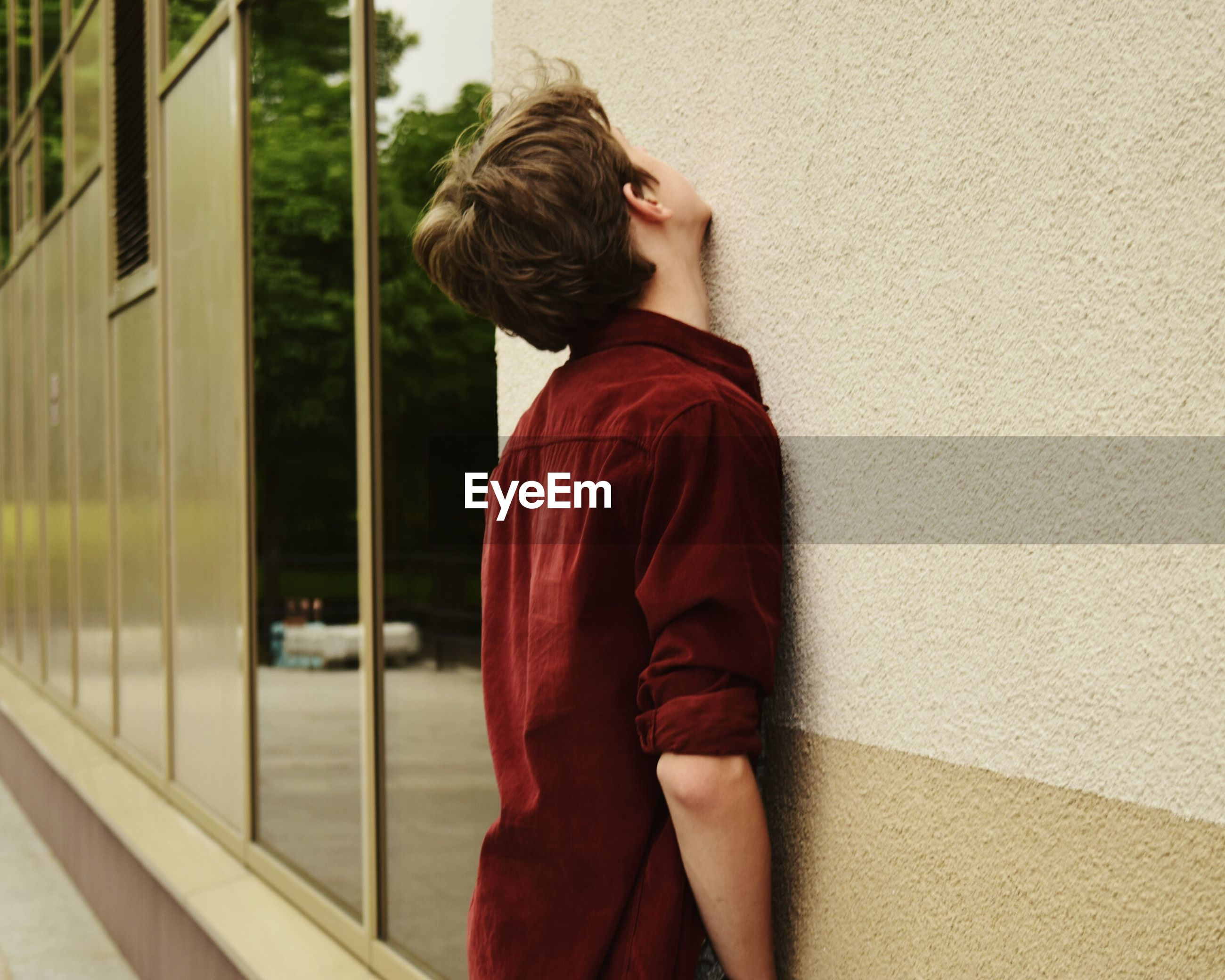 WOMAN LOOKING AT VIEW
