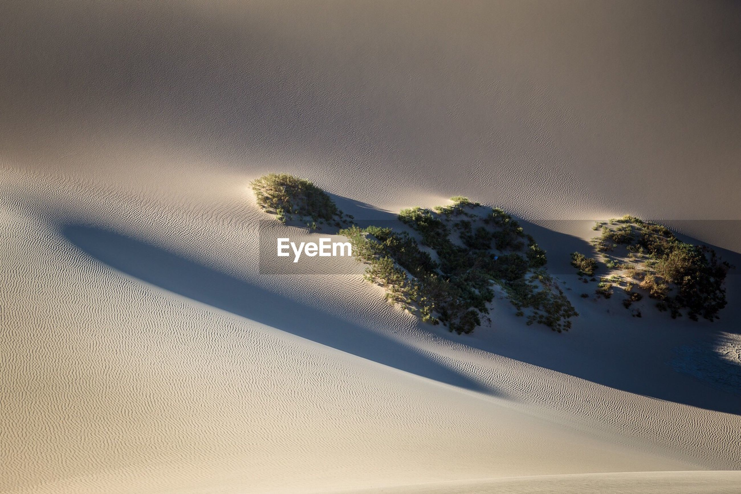 High angle view of sand dunes at death valley desert