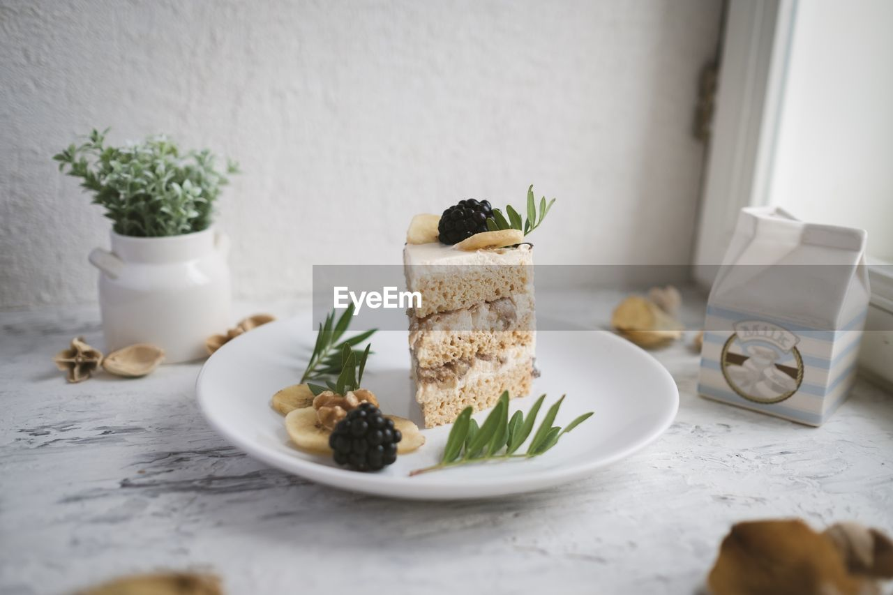 table, indoors, food, food and drink, no people, freshness, still life, ready-to-eat, plate, plant, potted plant, healthy eating, leaf, herb, close-up, serving size, nature, plant part, wellbeing, white color, garnish