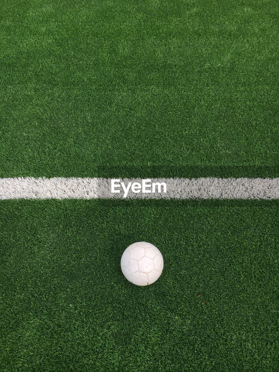 High Angle View Of Golf Ball On Field