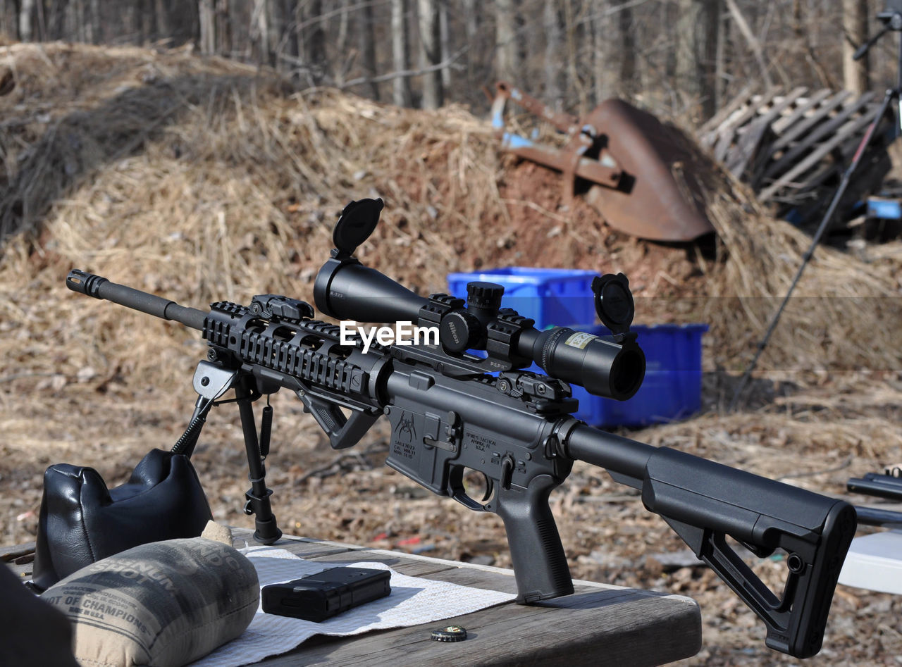 weapon, technology, gun, war, military, rifle, day, outdoors, camera - photographic equipment, no people, army, close-up
