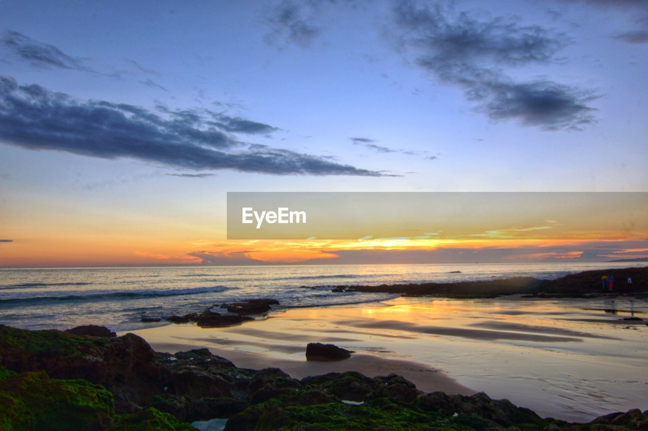 sky, sunset, cloud - sky, scenics - nature, beauty in nature, water, tranquility, tranquil scene, nature, no people, sea, orange color, idyllic, beach, land, outdoors, non-urban scene, environment, dramatic sky