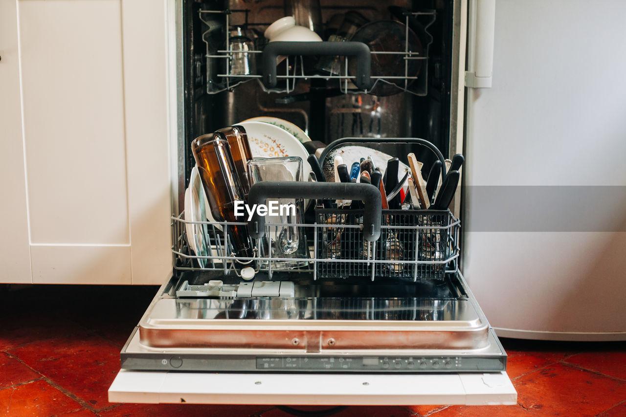 Dishwasher in kitchen at home