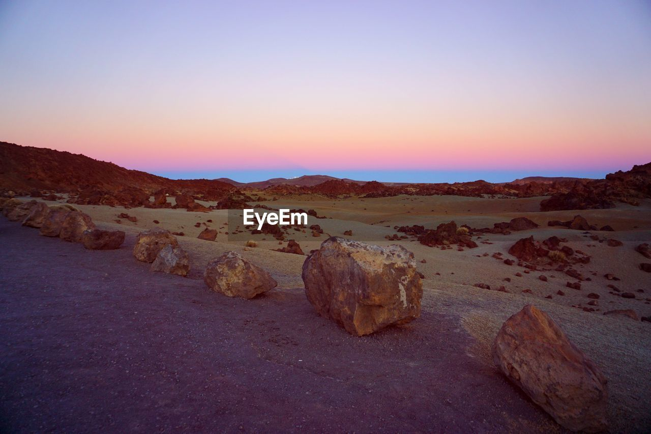 geology, nature, tranquility, tranquil scene, rock - object, no people, scenics, beauty in nature, outdoors, sunset, landscape, sky, clear sky, arid climate, day